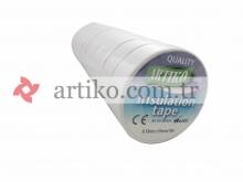 Bant Elektrik Beyaz  0.13mmX19mmX10 Metre