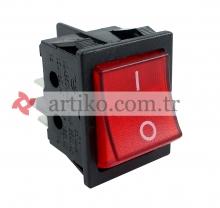 Şalter Işıklı Kırmızı